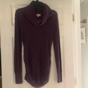 Liz Lange maternity cowl neck sweater - purple - M